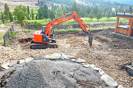 Excavator Rock Breaking